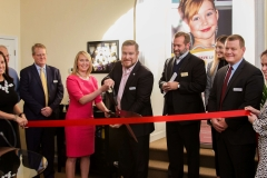 Joel and Jennifer Griffin cut the ribbon in honor of Gwyneth's Gift Foundation's grand opening.